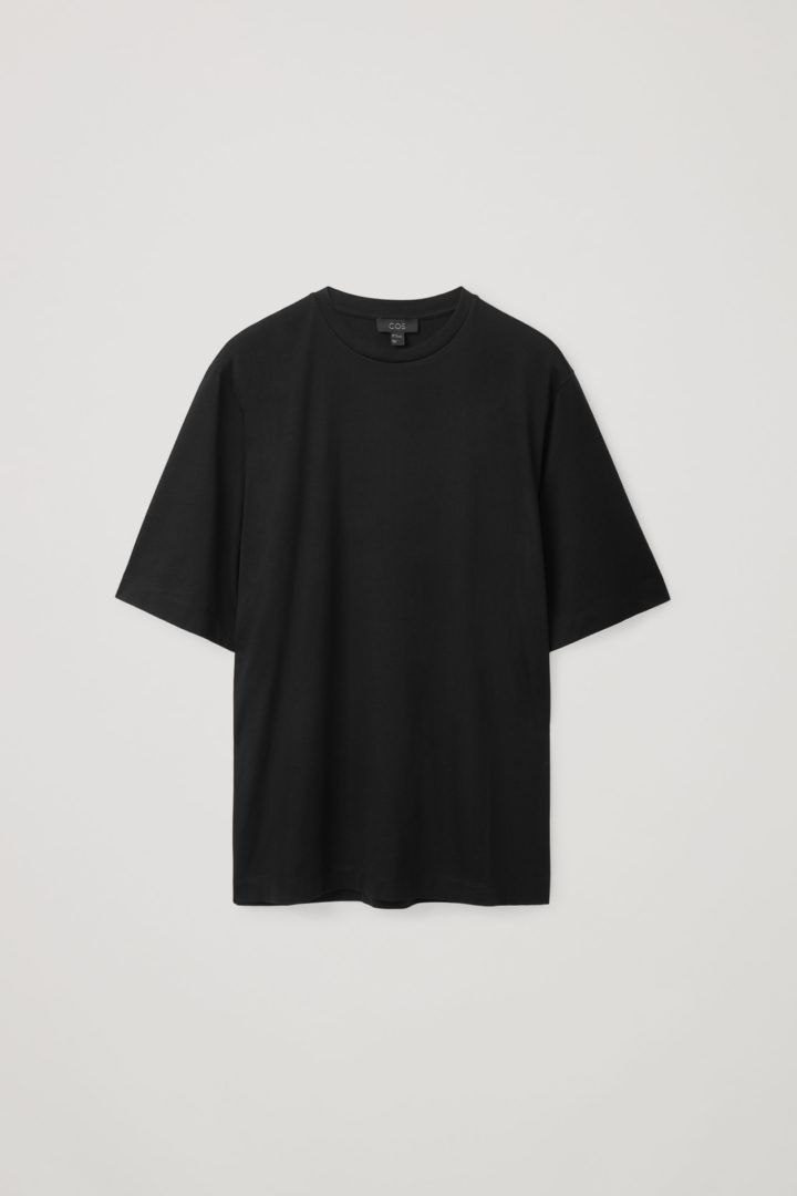 COS hover image 7 of 그레이 in 오가닉 코튼 릴랙스드 핏 티셔츠