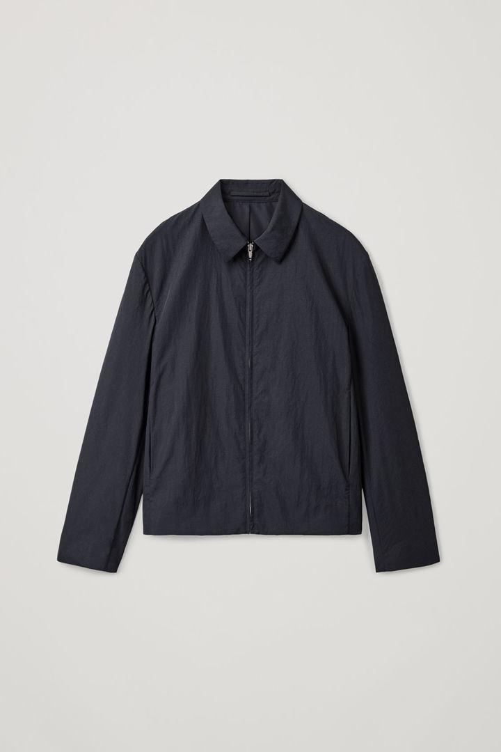 COS hover image 2 of 블루 in 텍스처드 집업 재킷