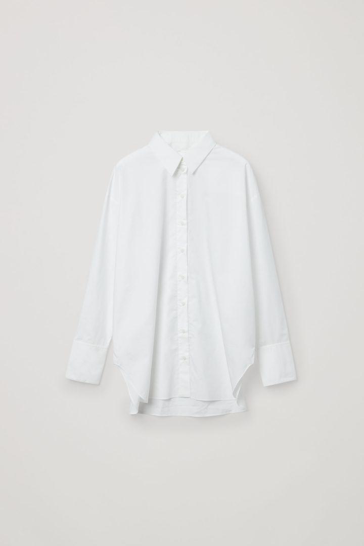 COS 디태처블 칼라 코튼 셔츠의 화이트컬러 Product입니다.