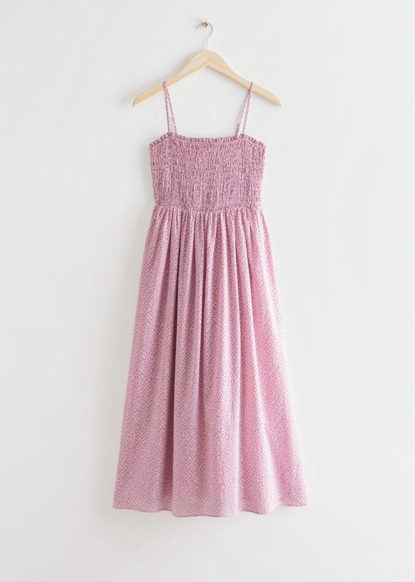 앤아더스토리즈 스모크 미디 드레스의 핑크 플로럴컬러 Product입니다.