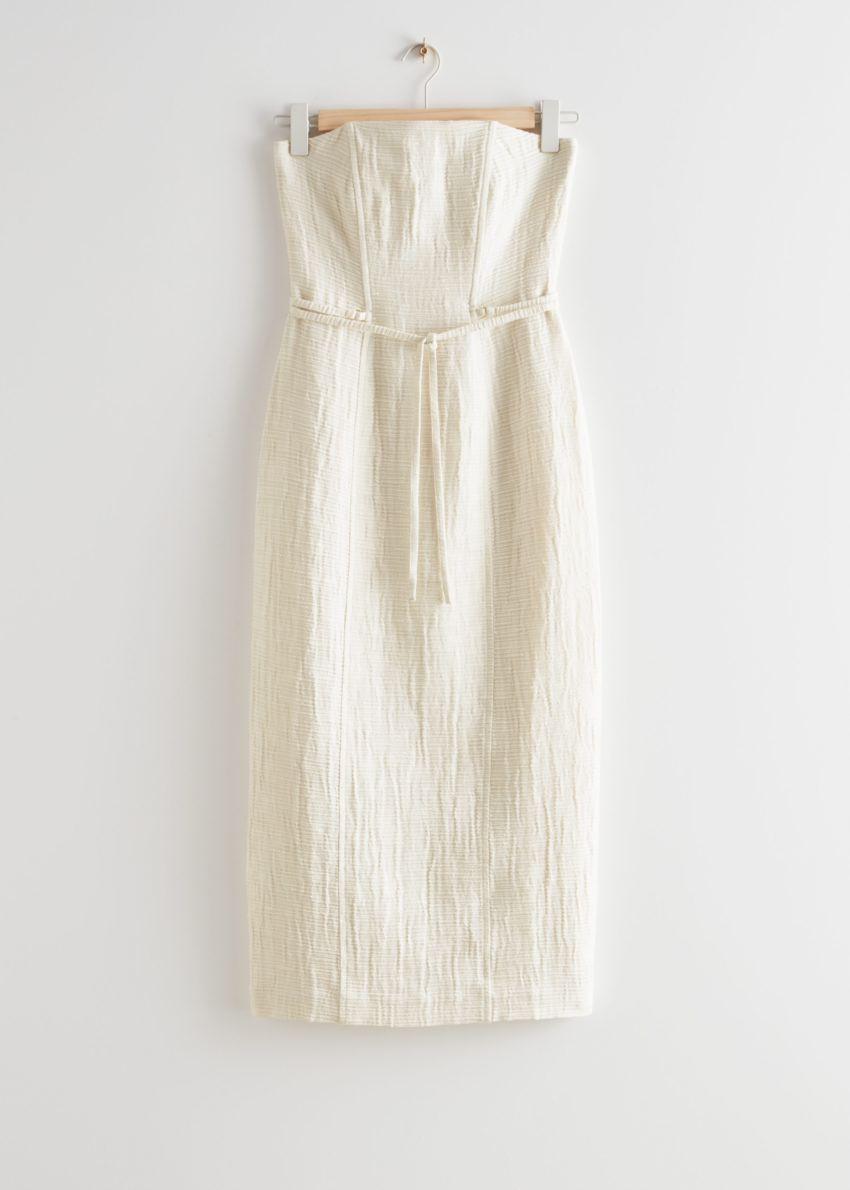 앤아더스토리즈 방도 미디 드레스의 화이트컬러 Product입니다.