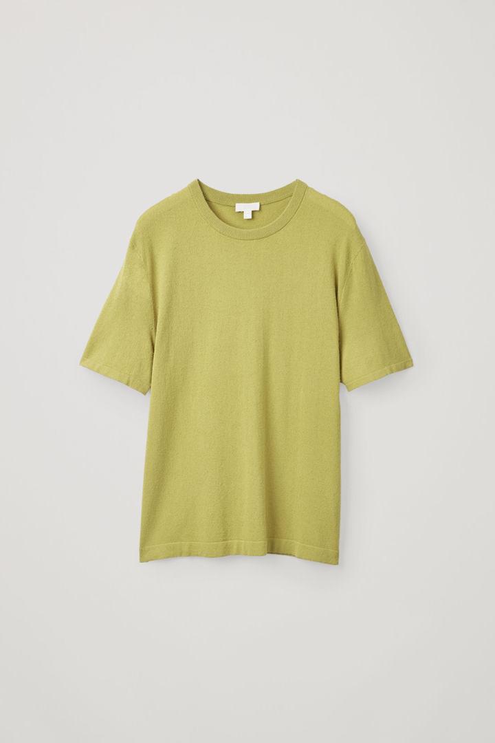 COS hover image 9 of 옐로우 in 텍스처드 니트 티셔츠