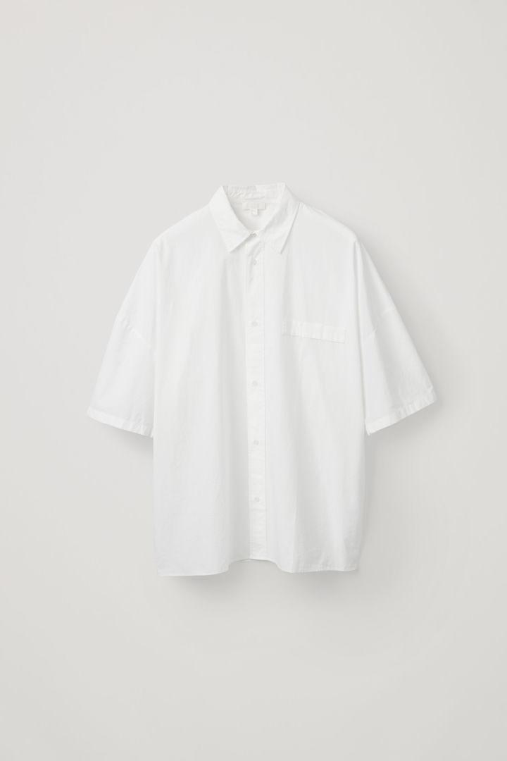 COS hover image 5 of 화이트 in 릴랙스드 코튼 포플린 셔츠